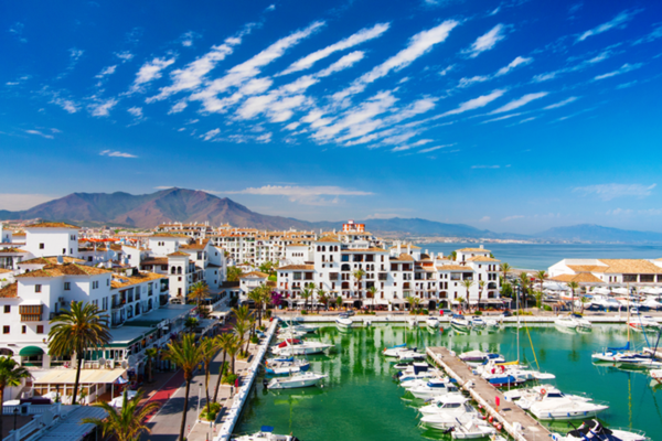 Sunny day on the Costa del Sol, Spain